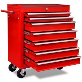 Carrello portautensili attrezzi scomponibile ruote cassettiera officina