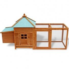 Pollaio da esterno Gabbia legno per conigli roditori esterno con recinto