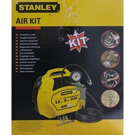 Compressore compatto portatile STANLEY AIR KIT 1.5HP oilless con KIT Gonfiaggio