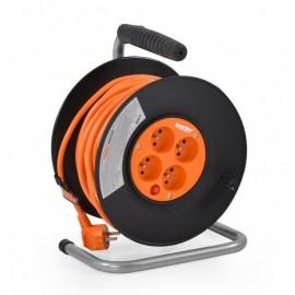 Avvolgicavo elettrico da giardinaggio prolunga 20mt a tre fili sezione 1.5mm