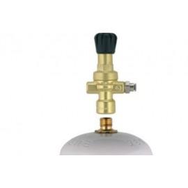 Riduttore di pressione manometro per bombole gas non ricaricabili