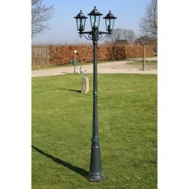 Lampione da Esterno con 3 Lanterne Per Giardino Vialetto H 215cm