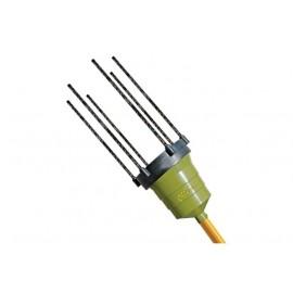 Abbacchiatore elettrico a batteria Oliviero Synthesis da 180 cm con asta fissa in alluminio