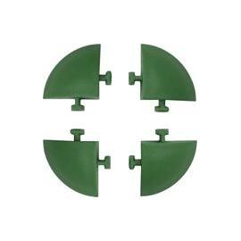 ANGOLARE X PIASTRELLA AUTOBLOCCANTE PP VERDE CM 5X5 H.CM 2.5 CF PZ 4