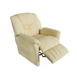 Poltrona massaggio relax crema