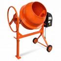 Betoniera calcestruzzo 140L 650W acciaio Arancio