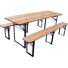 Set birreria tavolo e due panche 220x70cm h76cm