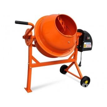 Betoniera Elettrica 63 L 220W Acciaio Arancione