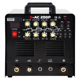 SALDATRICE AC/DC per Alluminio TIG MMA HF 200 AH CAVO 8MT CON PEDALE